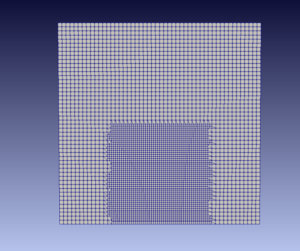 Rectangular mesh refinement region | created with blockMeshdict in OpenFOAM