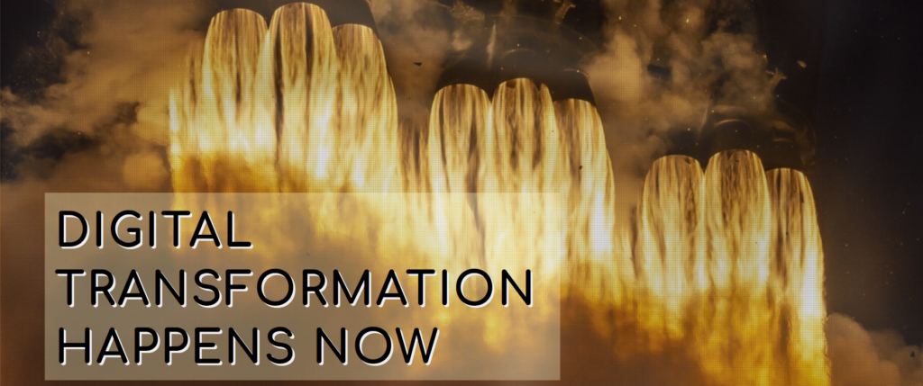 space-X rocket engines | text about digital-transformation
