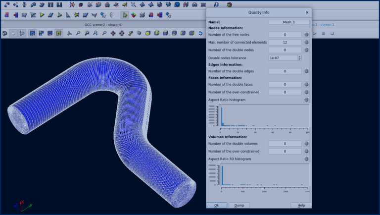 Fast and easy way to create full Hex Elements Meshes for curved Pipes with Salome