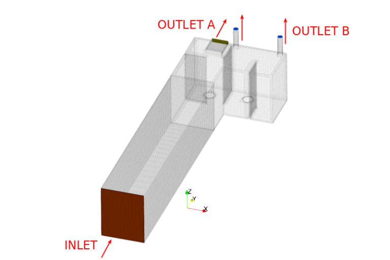 Mockup for CFD-Simulation | ventilation duct task