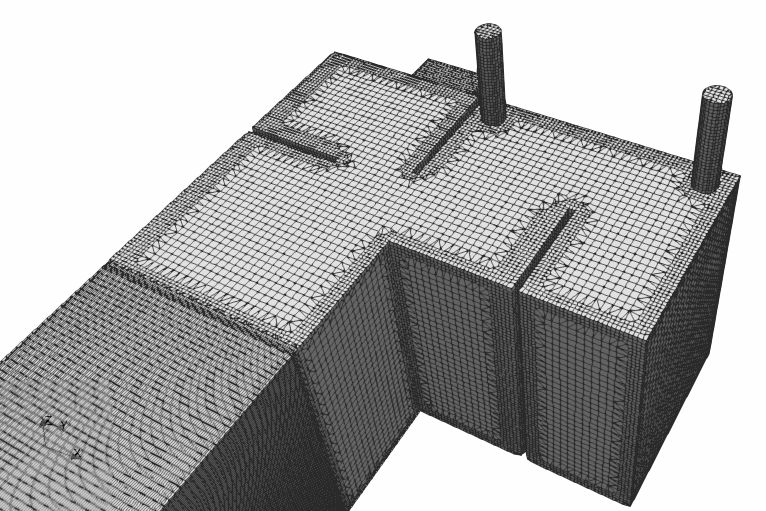 Mesh for CFD simulation: created with open-source snappyHexMesh tool | iso-view