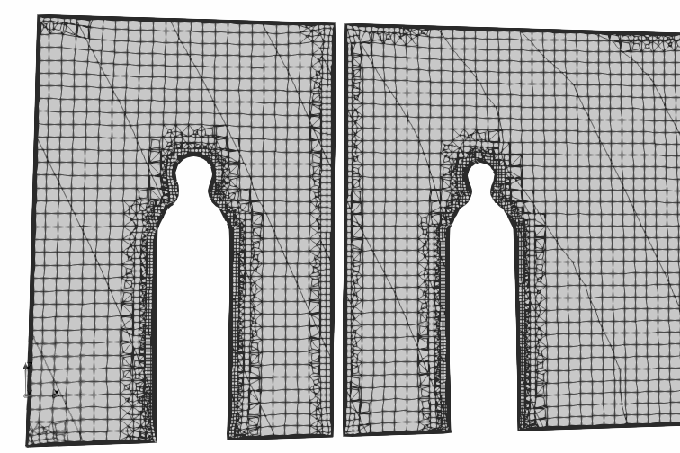 Hexadominant mesh for CFD simulation: created with open-source snappyHexMesh tool | slice view